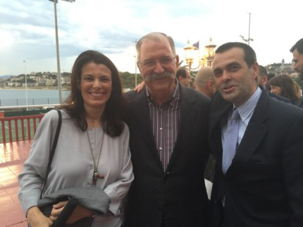 Esperanza e Ignacio Serrats con Pedro Subijana