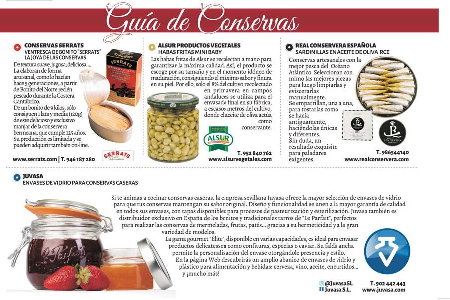 ventresca de Bonito del Norte Serrats  en la guía de conservas de la revista Top Chef