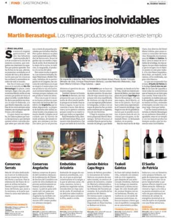 Página de El Diario Vasco en la que mencionan el cpgote de Bonito del Norte Serrats