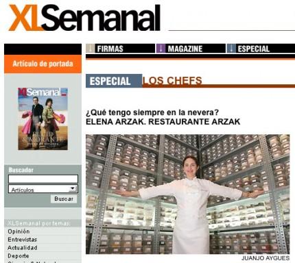 Elena Arzak en la revista XL