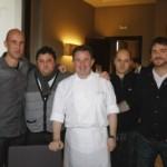Un menú de tres estrellas Michelin para cuatro ases de la cocina