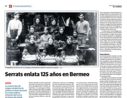 Reportaje sobre Serrats en El Correo