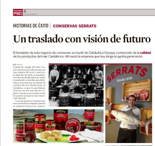 Reportaje sobre Conservas Serrats en Expansión