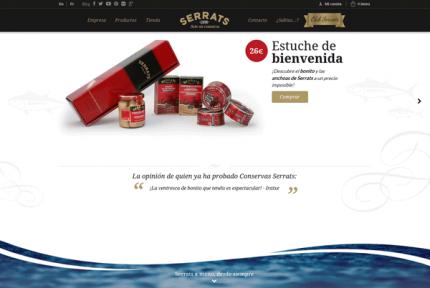 Nueva página web de Conservas Serrats